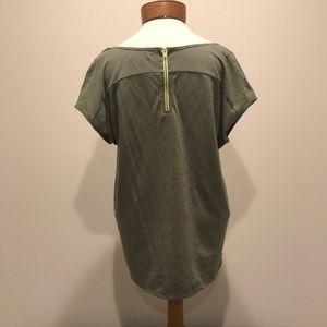 Oversized zip back tee